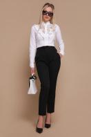 белая блузка с рюшами. блуза Амина д/р. Цвет: белый цена