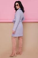 бирюзовое пальто с поясом. пальто П-308. Цвет: 1228-голубой купить