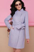 бирюзовое пальто с поясом. пальто П-308. Цвет: 1228-голубой цена