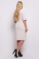 темно-синее платье больших размеров. платье Руся-Б к/р. Цвет: св. бежевый цена