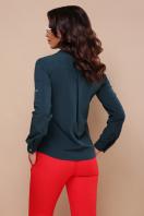 черная блузка с длинным рукавом. блуза Кери д/р. Цвет: изумруд в интернет-магазине