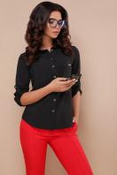 черная блузка с длинным рукавом. блуза Кери д/р. Цвет: черный купить