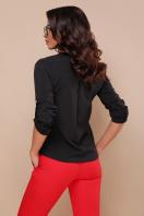 черная блузка с длинным рукавом. блуза Кери д/р. Цвет: черный в интернет-магазине