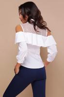 белая блузка с открытыми плечами. блуза Эрика д/р. Цвет: белый в интернет-магазине