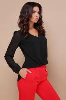 черная блузка с кружевом. блуза Айлин д/р. Цвет: черный купить