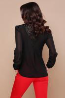 черная блузка с кружевом. блуза Айлин д/р. Цвет: черный цена