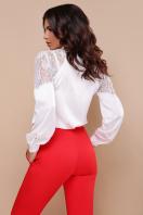 шелковая блузка с кружевом. блуза Анастейша д/р. Цвет: белый цена