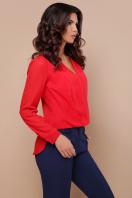 белая блузка с кружевом. блуза Айлин д/р. Цвет: красный цена