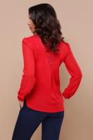 белая блузка с кружевом. блуза Айлин д/р. Цвет: красный в интернет-магазине