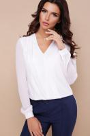 черная блузка с кружевом. блуза Айлин д/р. Цвет: белый купить