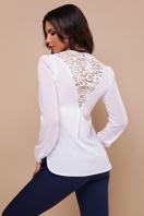 черная блузка с кружевом. блуза Айлин д/р. Цвет: белый цена