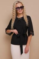 нарядная черная блузка. блуза Карла д/р. Цвет: черный цена