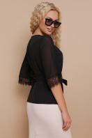 нарядная черная блузка. блуза Карла д/р. Цвет: черный в интернет-магазине