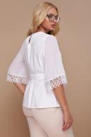большая женская блузка белого цвета. блуза Карла-Б д/р. Цвет: белый цена