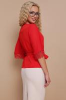 красная блузка с кружевом. блуза Карла д/р. Цвет: красный цена
