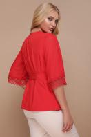 большая женская блузка белого цвета. блуза Карла-Б д/р. Цвет: красный цена