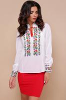 белая блузка с цветами. Вышиванка блуза Ярослава д/р. Цвет: принт купить