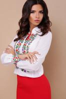 белая блузка с цветами. Вышиванка блуза Ярослава д/р. Цвет: принт цена
