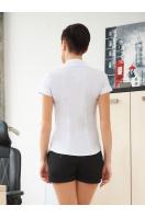 классическая женская белая рубашка с коротким рукавом. блуза Марта к/р. Цвет: белый купить