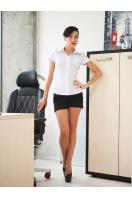 классическая женская белая рубашка с коротким рукавом. блуза Марта к/р. Цвет: белый цена