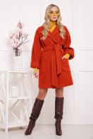 бордовое пальто с накладными карманами. пальто П-301-90. Цвет: 170 купить