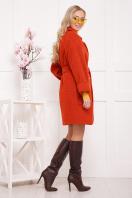 бордовое пальто с накладными карманами. пальто П-301-90. Цвет: 170 цена