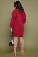 бордовое пальто с накладными карманами. пальто П-301-90. Цвет: 120-малина цена