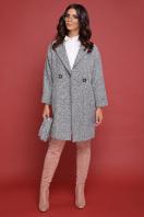 клетчатое пальто прямого кроя. пальто П-300-90. Цвет: 1801-серый купить