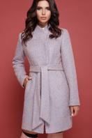бирюзовое пальто с поясом. пальто П-308. Цвет: 1214 цена