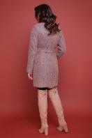бирюзовое пальто с поясом. пальто П-308. Цвет: 1208-розовый купить