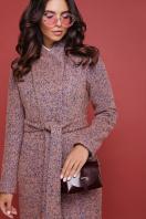 бирюзовое пальто с поясом. пальто П-308. Цвет: 1208-розовый цена