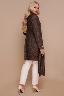 бирюзовое пальто с поясом. пальто П-308. Цвет: 1224-коричневый цена