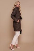 бирюзовое пальто с поясом. пальто П-308. Цвет: 1224-коричневый в интернет-магазине