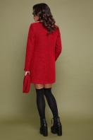 терракотовое пальто без воротника. пальто П-337ш. Цвет: 1503-красный цена