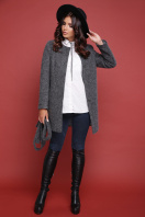 терракотовое пальто без воротника. пальто П-337ш. Цвет: 1510-серый в интернет-магазине