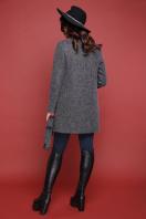 терракотовое пальто без воротника. пальто П-337ш. Цвет: 1510-серый в Украине