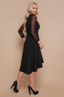 черное платье для полных с воланом. платье Алеся-Б д/р. Цвет: черный купить