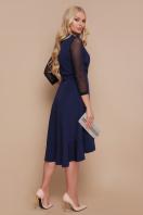 черное платье для полных с воланом. платье Алеся-Б д/р. Цвет: синий цена