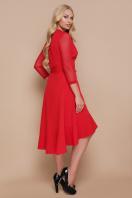 черное платье для полных с воланом. платье Алеся-Б д/р. Цвет: красный купить