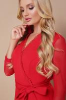 черное платье для полных с воланом. платье Алеся-Б д/р. Цвет: красный цена