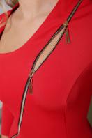 черное платье с молнией. платье Лилита д/р. Цвет: красный в интернет-магазине