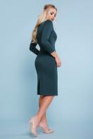 черное платье с молнией. платье Лилита д/р. Цвет: изумруд купить