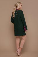 ярко-синее пальто без воротника. пальто П-337. Цвет: 1225-темно-зеленый купить