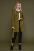 черное пальто на весну. пальто П-337. Цвет: 1222 купить
