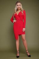 красное платье с запахом. платье Виолетта д/р. Цвет: красный купить