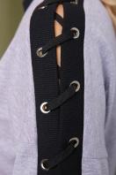 серая кофта со шнуровкой. Пальмы кофта Майорка д/р. Цвет: серый в интернет-магазине