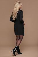 бордовое платье для офиса. платье Полина д/р. Цвет: черный купить