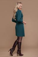 бордовое платье для офиса. платье Полина д/р. Цвет: изумруд купить