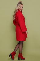 бордовое пальто с накладными карманами. пальто П-301-90. Цвет: 1201-красный цена