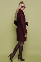 бордовое пальто с накладными карманами. пальто П-301-90. Цвет: 1302-бордовый в интернет-магазине